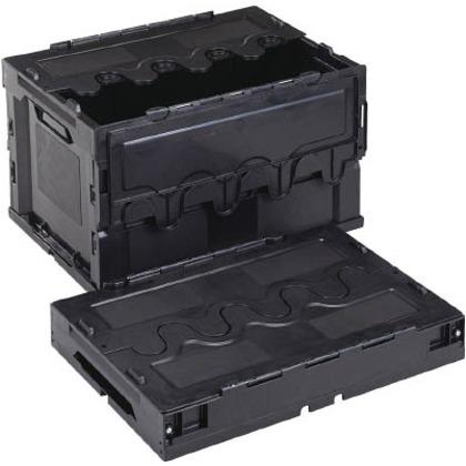 リス 導電性折りたたみコンテナーCF-S51A黒 CFE-S51A-BK