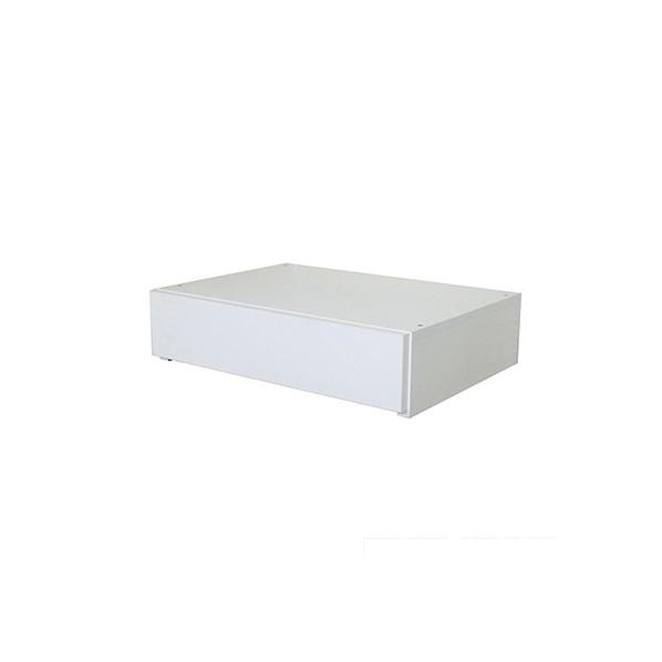 Fitrack(フィットラック) 薄型引出BOX1段 ホワイト 幅90cm×奥行45cm×高さ17cm UHB1F90L 1個
