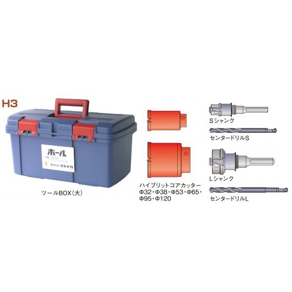ミヤナガ ポリクリック コア給水キットH 3 (SDSシャンク) H3R 1セット