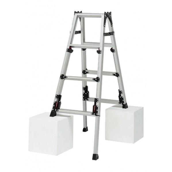 ピカ 四脚アジャスト式はしご兼用脚立 スタッピー SCN-120 1台