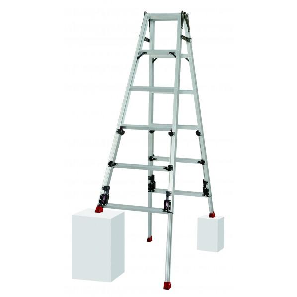 ピカ 四脚アジャスト式はしご兼用脚立 スタッピー SCN-150L 1台