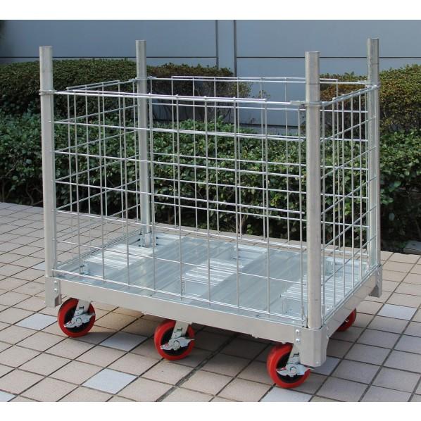 長谷川工業 イットン台車用メッシュ囲い(NAC1.0-0765用) シルバー T71.8×W64.8×W74.6cm NACM-0765 1台