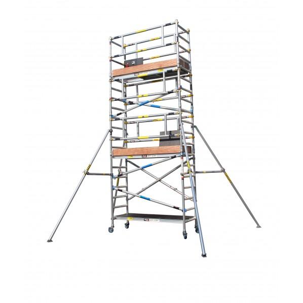 長谷川工業 ジッピー・スキャッフ(3.9mセット) シルバー W192×D68×全高497cm JAS2.0-ZS390 1台