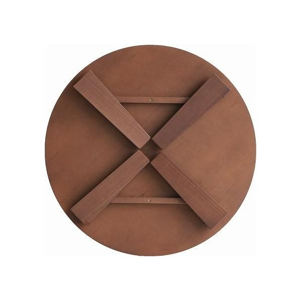 市場 Circle Table(折りたたみテーブル) ブラウン 72×72×33cm T-3230BR 1台
