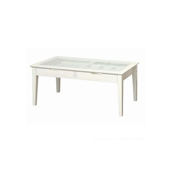 市場 ine reno collection table(コレクションテーブル) ホワイト 90×45×40cm INT-2576WH 1台