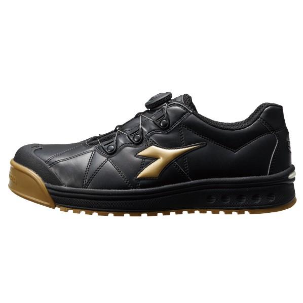 ドンケル DIADORA 安全靴 FINCH フィンチ BLK+GLD+BLK 27.5 FC-292 作業靴 1個