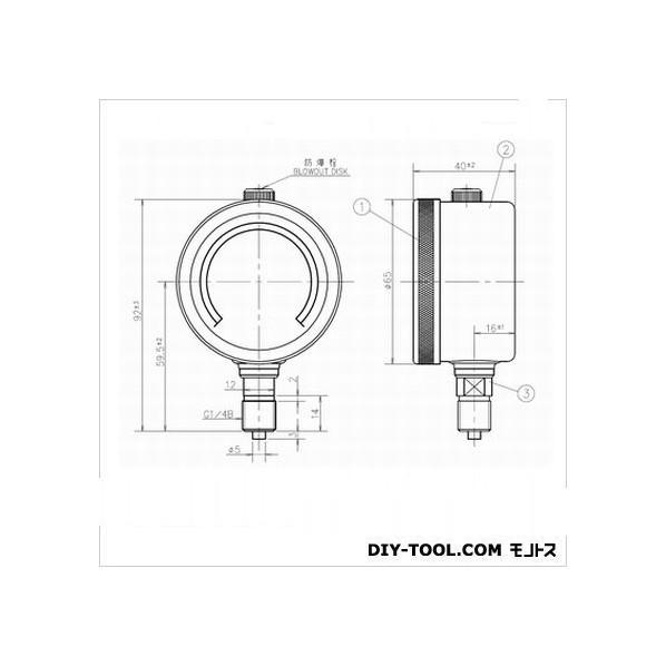 第一計器製作所 GRKグリセリン入圧力計 G-AU1/4-60:0.5MPA 1個