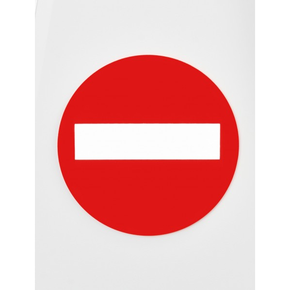 ラグジーコーン ラグジーコーン専用標識マークシール(進入禁止マーク) 210×210mm 749000 1枚