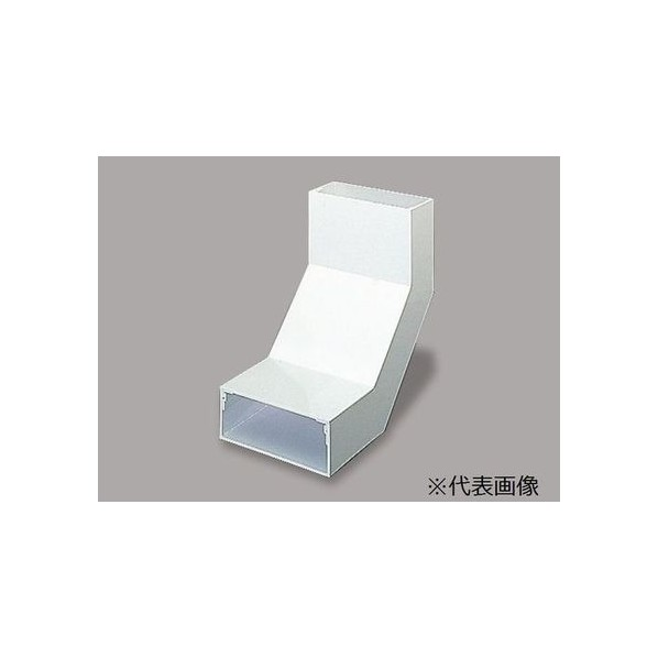 マサル工業 内大マガリ 2510 グレー W250.0mm×H100.0mm×L400.0mmt:4.0mm LDU2221 1個