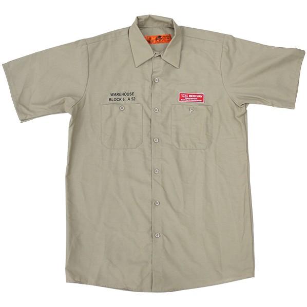 キーストーン MCR半袖ワークシャツ カーキ 着丈74 身巾51 肩幅44 袖丈24 ME045119 1着