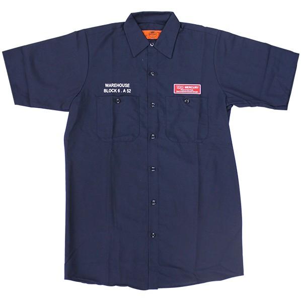 キーストーン MCR半袖ワークシャツ ネイビー 着丈75 身巾54 肩幅46 袖丈25 ME045096 1着
