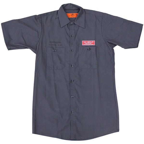 キーストーン MCR半袖ワークシャツ チャコール 着丈77 身巾61 肩幅48 袖丈26 ME045072 1着