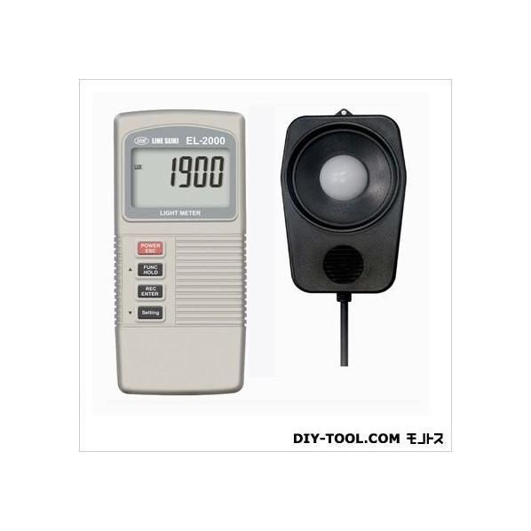 ライン精機 デジタル照度計 135×60×33mm EL-2000 1台
