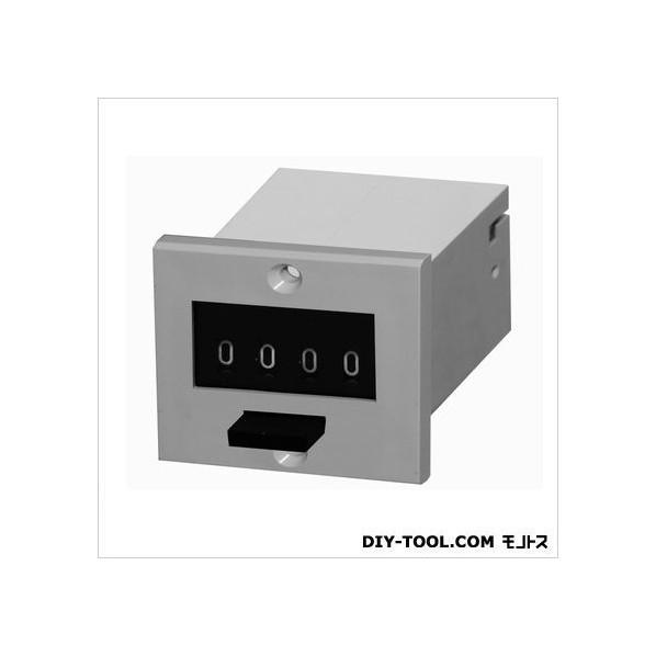 ライン精機 電磁カウンタ/リセット付/加算形トータルカウンタ グレー MCF-4P-200 1台