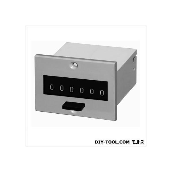 ライン精機 電磁カウンタ/リセット付/加算形トータルカウンタ グレー MCF-6P-100 1台