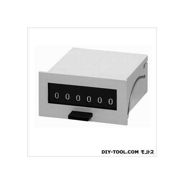 ライン精機 電磁カウンタ/リセット付/加算形トータルカウンタ グレー MCF-6X-DC24 1台