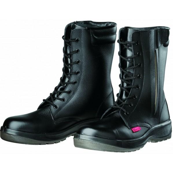 ドンケル ダイナスティPU2 安全靴 長編上ブーツ(ファスナー付)PU二層底 耐滑 衝撃吸収 ブラック 24.0cm D7004 1足