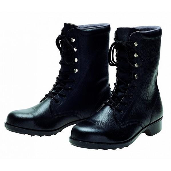 ドンケル 一般作業用安全靴(長編上ブーツ)ラバー1層底 耐滑 ブラック 30.0cm 604 1足