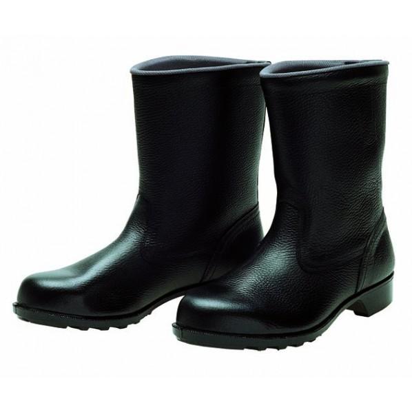 ドンケル 安全靴(半長靴)ラバー1層底 耐滑 ブラック 28.0cm 606 静電 1足