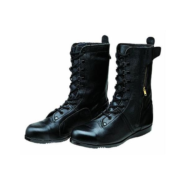 ドンケル ファスナー付高所・構内用安全靴(長編上ブーツ)ラバー1層底 耐滑 ブラック 27.0cm 1足