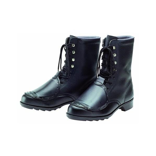 ドンケル 甲プロ付安全靴(長編上ブーツ)ラバー1層底 耐滑 ブラック 27.0cm 604 1足