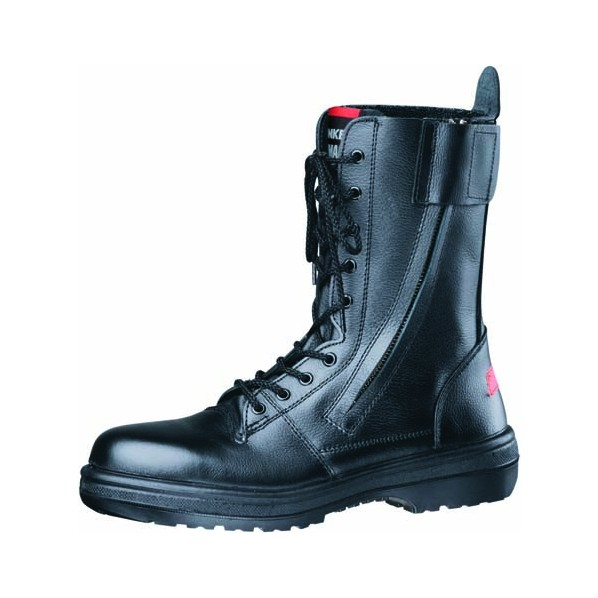 ドンケル 安全靴(長編上ブーツ)ラバー2層底 耐滑 消防用 ブラック 24.0cm 1足