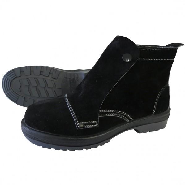 ドンケル ボタン式安全靴 ラバー2層底 耐滑 耐熱 ブラック 27.5cm R2-72 1足