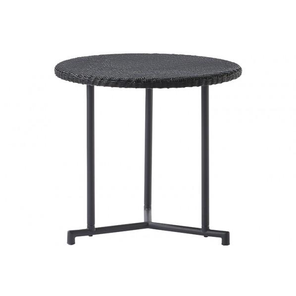 MA サイドテーブル ブラック Φ520×H530 660151 1個