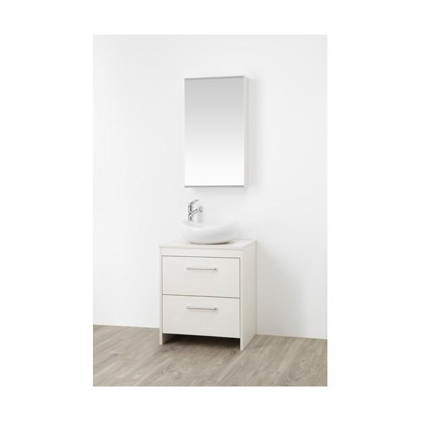SANEI 洗面化粧台 木目ホワイト WF015S2-600-IV-T3 1台