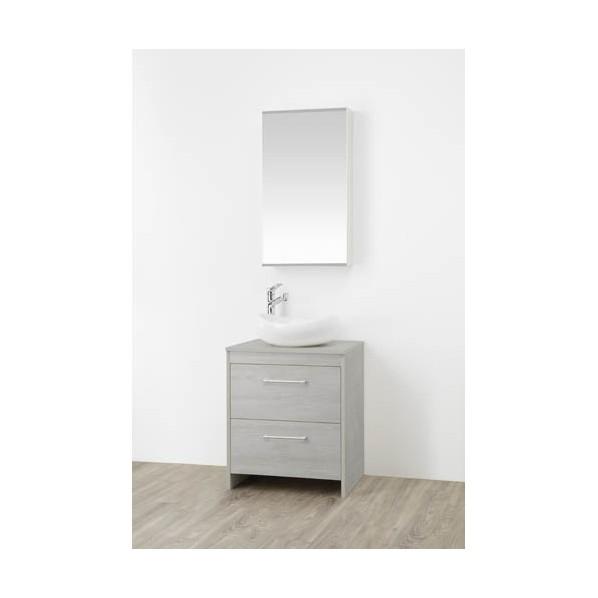 SANEI 洗面化粧台 木目グレー WF015S2-600-PG-T4 1台