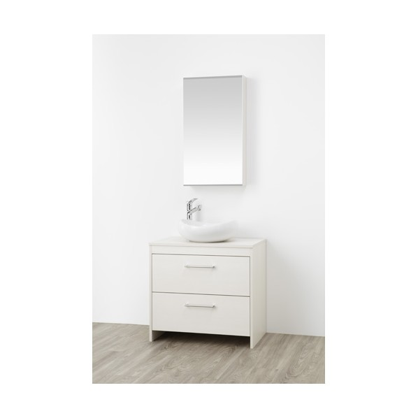 SANEI 洗面化粧台 木目ホワイト WF015S2-750-IV-T1 1台