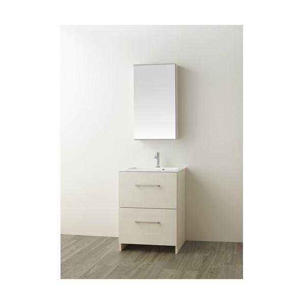 SANEI 洗面化粧台 木目ホワイト WF019S2-600-IV-T4 1台