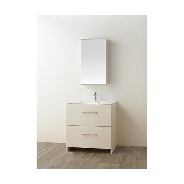 SANEI 洗面化粧台 木目ホワイト WF019S2-750-IV-T1 1台