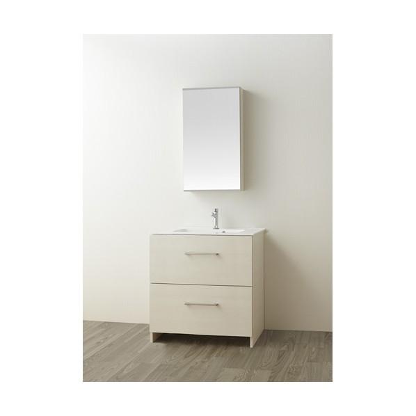 SANEI 洗面化粧台 木目ホワイト WF019S2-750-IV-T3 1台