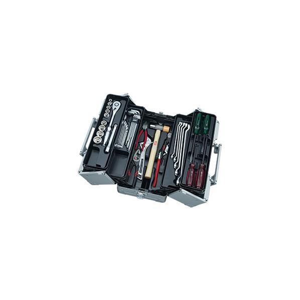 KTC 41点工具セット(両開きメタルケースセット) メタリックシルバー SK44120WM 1セット