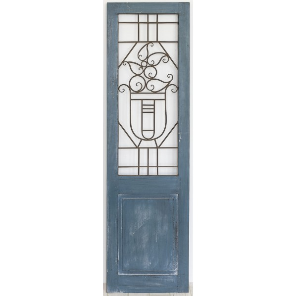 村田屋産業 アイアンウッドドア ブルー 巾45×奥2×高160cm 6985 1台