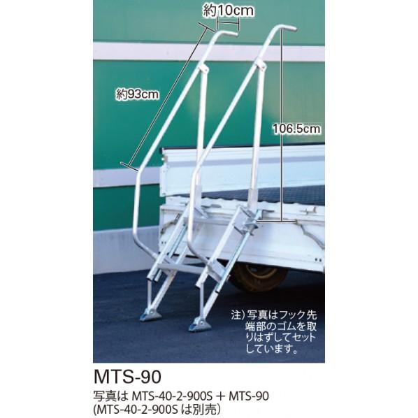 長谷川工業 マルチステッパー用手摺 シルバー MTS-90 1台