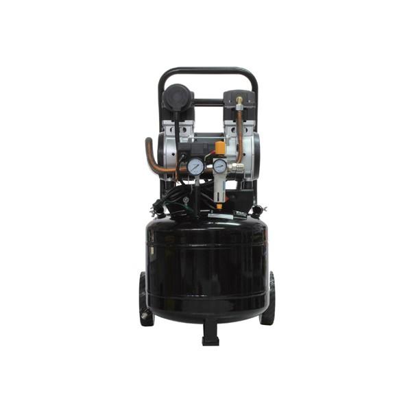 ムサシトレイディングオフィス 静音オイルレスコンプレッサー 38L 縦型 黒 400×420×820mm DZW038TBK 1台