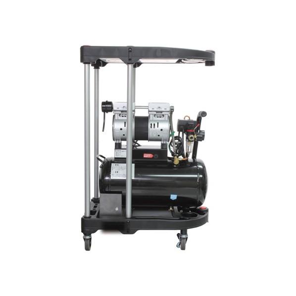 ムサシトレイディングオフィス 静音オイルレスコンプレッサー 24L &カート 上面600×375×40mm 高さ925mm DZW024BK-WA 1台