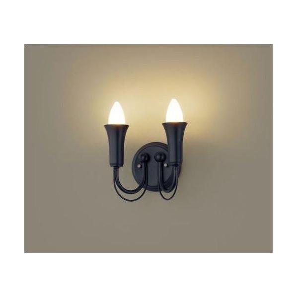 パナソニック LEDブラケット2灯(電球色) ブラックレザーサテン仕上 LGB81626