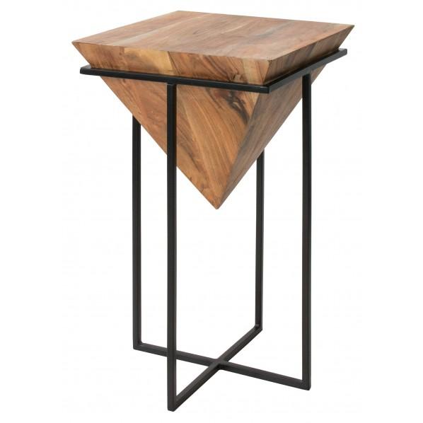 MASALA(マサラ) 天然木のデザインサイドテーブル ST-L640 1個