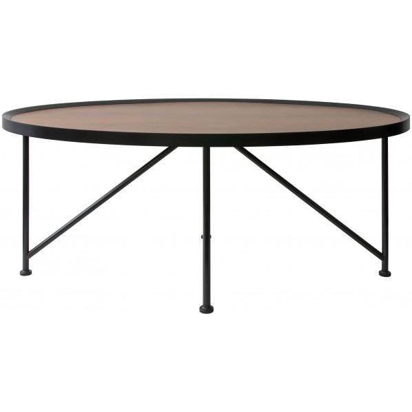 CULUS(クルス) 天然木突板のオーバルセンターテーブル CT-1020 1個
