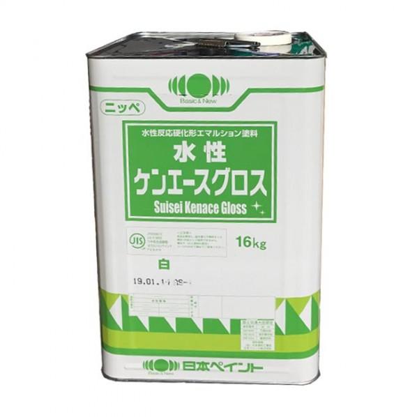 日本ペイント 水性ケンエースグロス 白 16kg 1缶