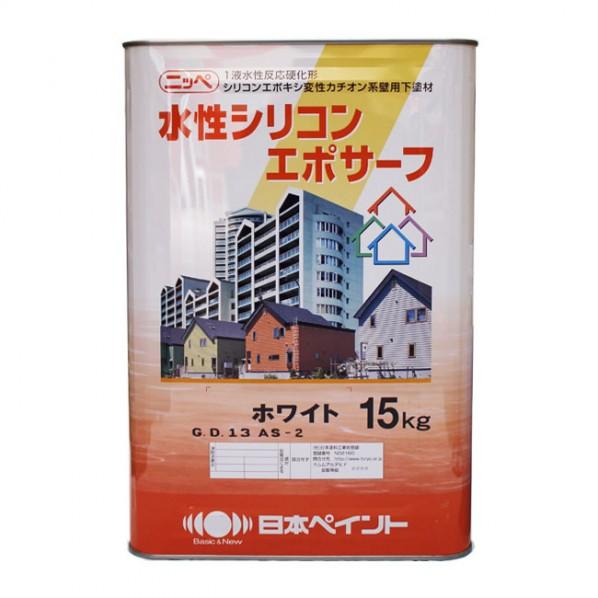 日本ペイント 水性シリコンエポサーフ ホワイト 15kg 1缶