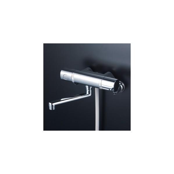 完璧 1個:DIY FACTORY SHOP KVK FTB100KR2T ONLINE 240mmパイプ付 サーモスタット式シャワー-木材・建築資材・設備