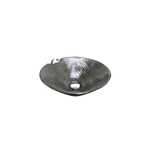 正規激安 人気上昇中 KVK 手洗鉢 黒釉ねこ KV301S 1個