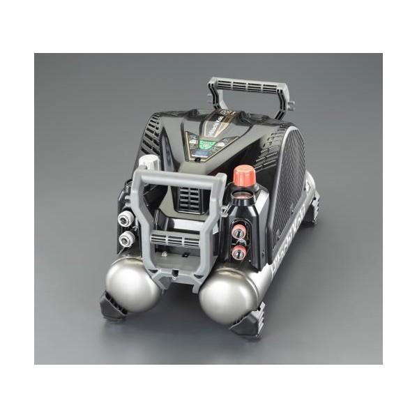 ※法人専用品※エスコ(esco) AC100V/ 1.4kw 高圧エアーコンプレッサー(タンク 12L) EA116HD-2E 1個