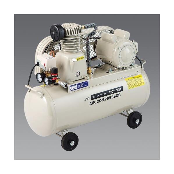 ※法人専用品※エスコ(esco) AC100V/0.85kW エアコンプレッサー(タンク39.5L/ベルト式 EA116PN-1 1個
