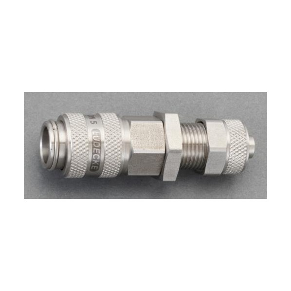 エスコ(esco) 4x6mm ウレタンホースカップリング(隔壁/ステンレス製) EA140GL-406 1個