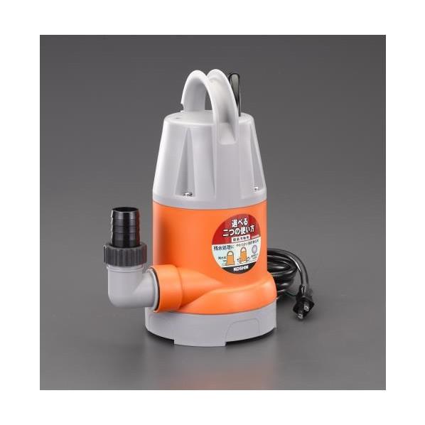 エスコ(esco) AC100V(60Hz)/32mm 水中ポンプ(汚水用) EA345EM-60 1個
